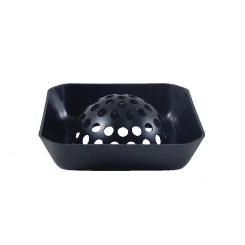 Commercial - Domed 6 in Square Floor Drain Strainer Basket