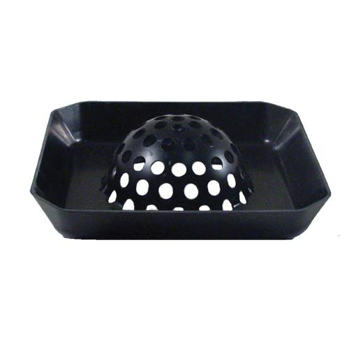 Commercial - Domed 7 1/2 in Square Floor Drain Strainer Basket