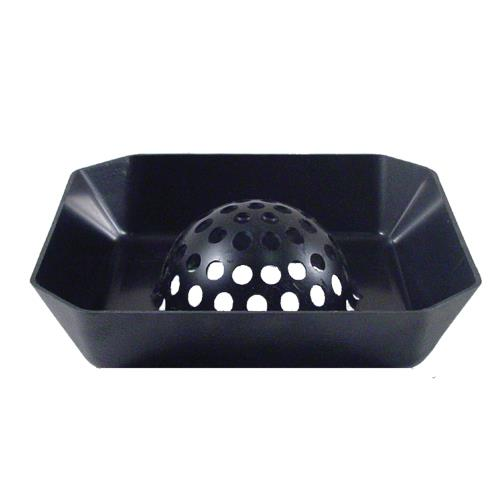 Commercial - Domed 8 in Square Floor Drain Strainer Basket