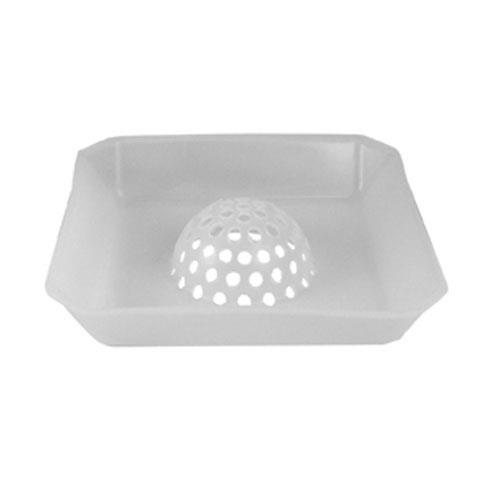 Commercial - Domed 9 3/4 in Square Floor Drain Strainer Basket