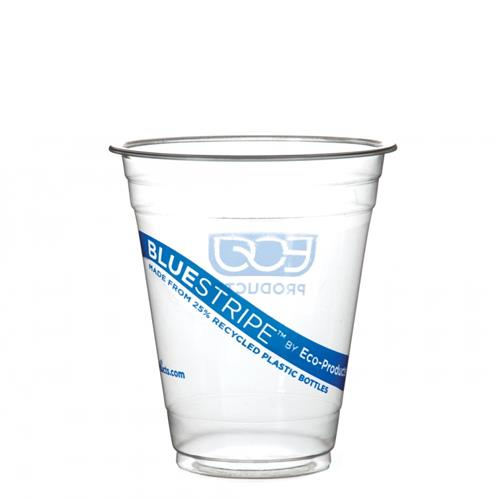Eco-Products - EP-CR12PK - 12 oz Recycled BlueStripe™ PET Cold Cups