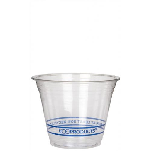 Eco-Products - EP-CR9PK - 9 oz Recycled BlueStripe™ PET Cold Cups Convenience Pack