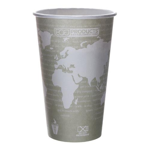 Eco-Products - EP-BHC16-WAPK - 16 oz World Art™ Hot Cups Convenience Pack