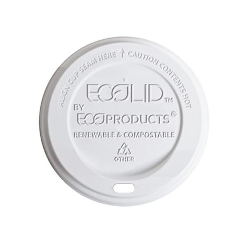 Eco-Products - EP-ECOLID-8 - 8 oz EcoLid® Renewable and Compostable Hot Cup Lids