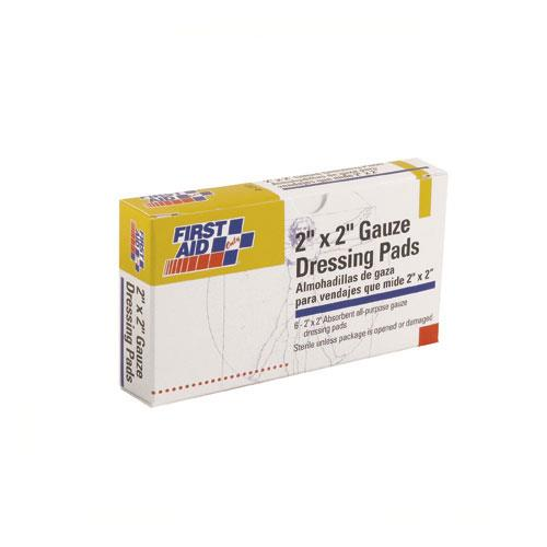 First Aid Only - 3-002 - 2 in x 2 in Gauze Pads