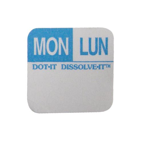 Commercial - Dissolve-It 1 in x 1 in Monday Label