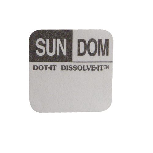 Commercial - Dissolve-It 1 in x 1 in Sunday Label
