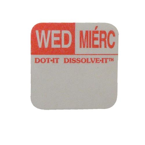 Commercial - Dissolve-It 1 in x 1 in Wednesday Label