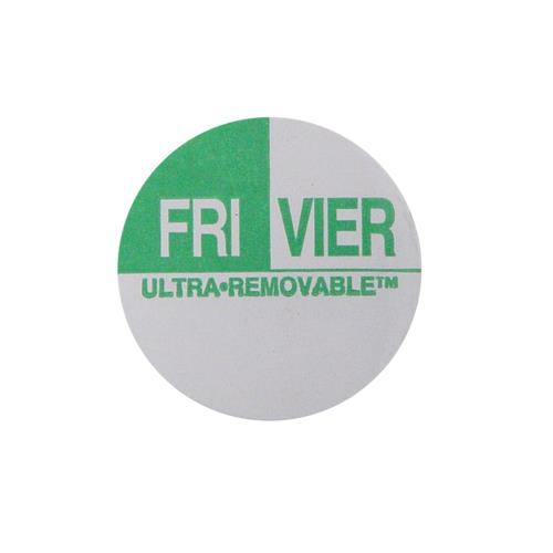 Commercial - Ultra-Removable 1 in Round Friday Label