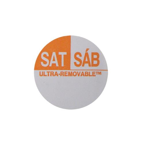 Commercial - Ultra-Removable 1 in Round Saturday Label