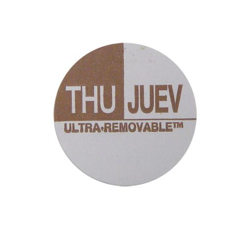 Commercial - Ultra-Removable 1 in Round Thursday Label
