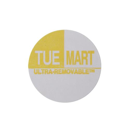 Commercial - Ultra-Removable 1 in Round Tuesday Label