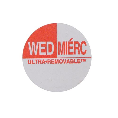 Commercial - Ultra-Removable 1 in Round Wednesday Label