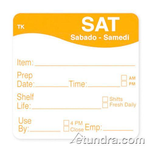 "DayMark - 1143686 - ToughMark 2"" x 2"" Saturday Shelf Life Label"