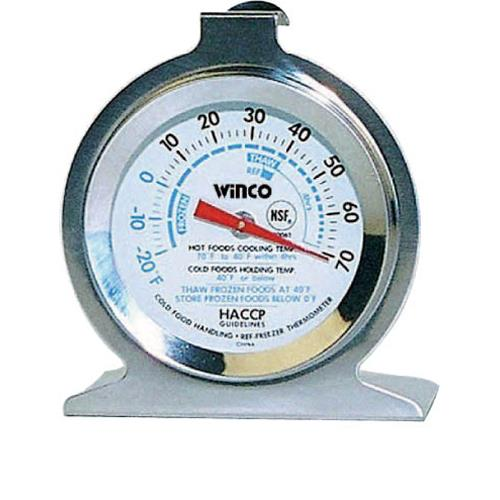 Winco - TMT-RF2 - -20  - 70 F Refrigerator/Freezer Thermometer