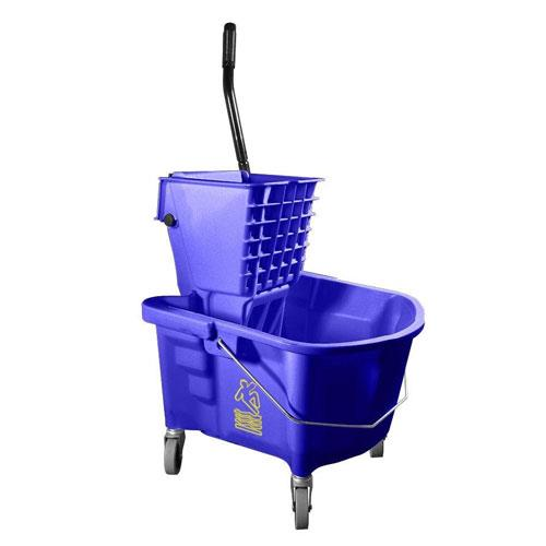 Continental Manufacturing - 226-312BL - 26 qt Blue Mop Bucket & Wringer Combo