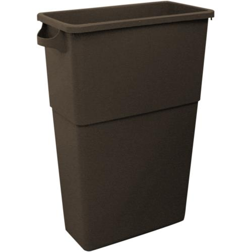 Impact - 7023-4 - Thin Bin™ Brown 23 Gallon Rectangular Trash Can