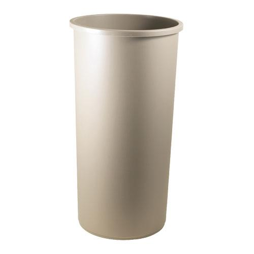 Rubbermaid - 3546 BEI - Untouchable® Beige 22 Gallon Round Trash Can