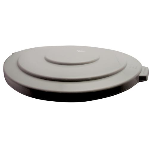 Rubbermaid - FG265400GRAY - Gray 55 Gallon Round Trash Can Lid