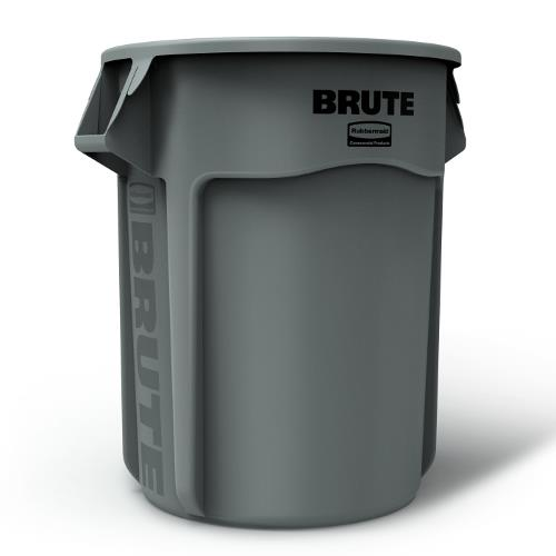 Rubbermaid - FG265500GRAY - 55 gal Round Gray Brute® Trash Can