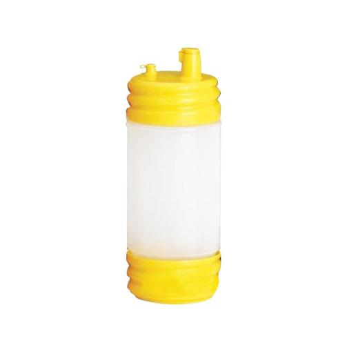 Tablecraft N32LPY 32 oz PourMaster Yellow Low Profile Drink Mix Pourer for Restaurant Chef
