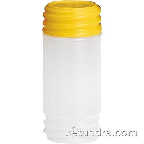 Tablecraft N32SMY 32 oz PourMaster Yellow Container with StorMaster Cap for Restaurant Chef