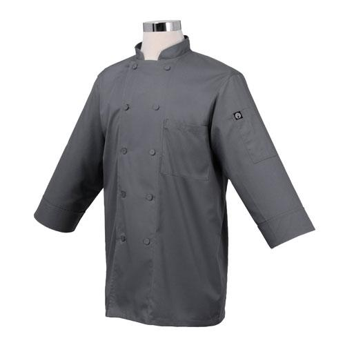 Chef Works JLCL-GRY-2XL Cool Vent Gray 3/4 Sleeve Coat (2X) for Restaurant Chef