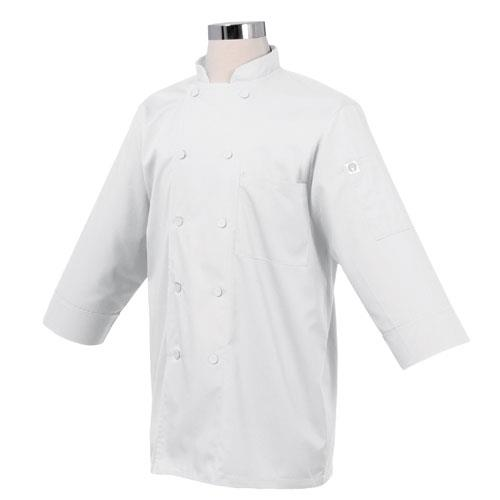 Chef Works - JLCL-WHT - (L) White 3/4 Sleeve Coat