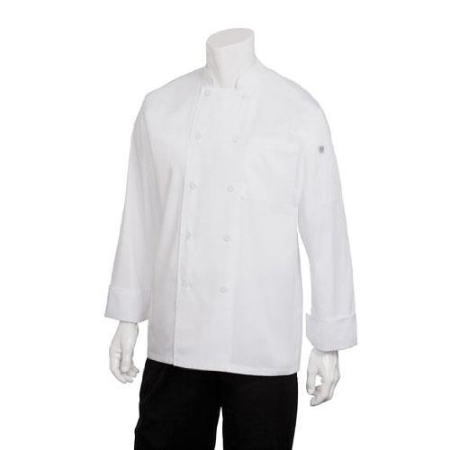 Chef Works JLLS-WHT-2XL 2XL White Calgary Cool Vent Chef Coat for Restaurant Chef