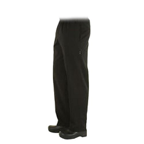 Chef Works - NBBP-S - Black Baggy Chef Pants (S)