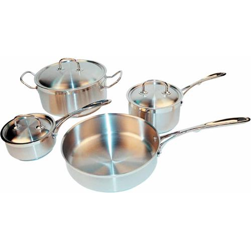Winco - SPC-7H - 7 Piece Stainless Steel Cookware Set