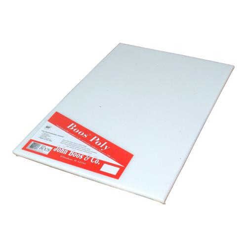 John Boos P1091N 24 in x 18 in x 1/2 in Non- Shrink Poly 1000 Cutting Board for Restaurant Chef