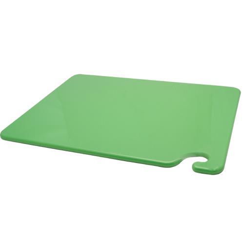 San Jamar CB152012GN 15 in x 20 in x 1/2 in Green Cutting Board for Restaurant Chef