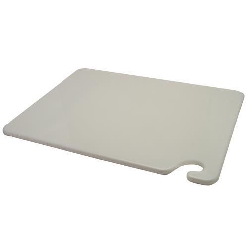San Jamar CB152012WH 15 in (W) x 20 in (L) x 1/2 in (H) White Cutting Board for Restaurant Chef