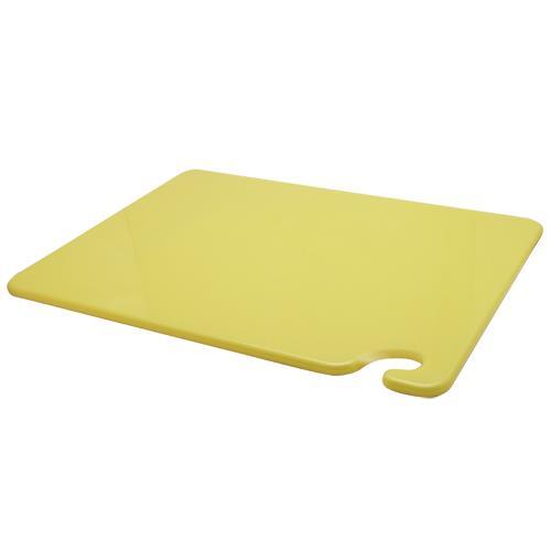 San Jamar CB152012YL 15 in (W) x 20 in (L) x 1/2 in (H) Yellow Cutting Board for Restaurant Chef