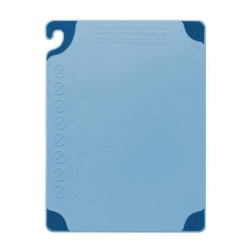 San Jamar CBG182412BL 18 in x 24 in x 1/2 in Blue Cutting Board for Restaurant Chef