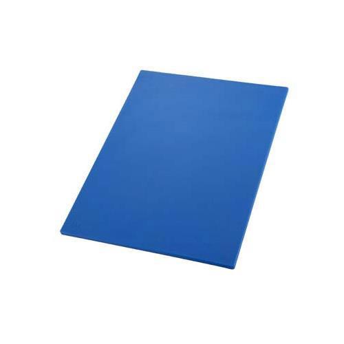 Winco CBBU-1218 12 in x 18 in x 1/2 in Blue Cutting Board for Restaurant Chef
