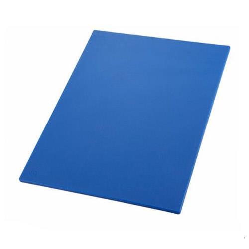 Winco CBBU-1520 15 in x 20 in x 1/2 in Blue Cutting Board for Restaurant Chef
