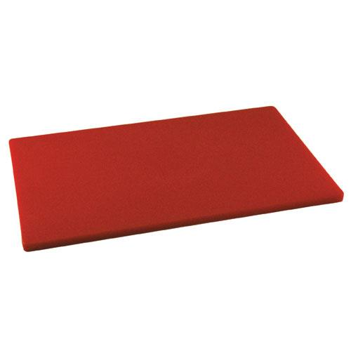 Winco - CBRD-1218 - 12 in x 18 in x 1/2 in Red Cutting Board
