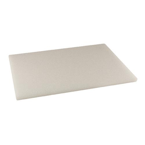 Winco CBWT-1520 15 in x 20 in x 1/2 in White Cutting Board for Restaurant Chef
