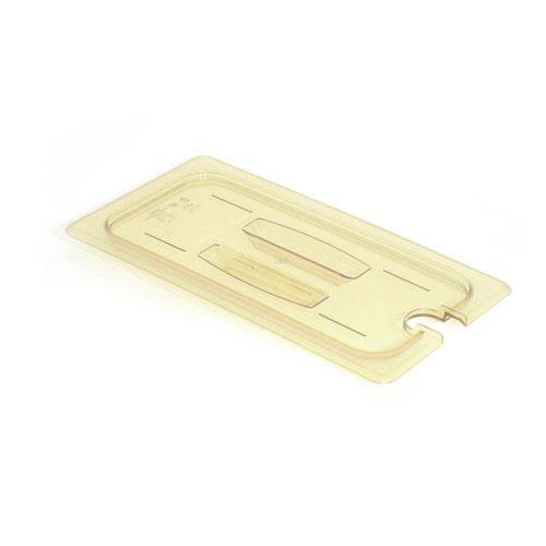 Cambro - 60HPCHN150 - 1/6 Size Amber H-Pan™ Notched Food Pan Cover w/ Handle