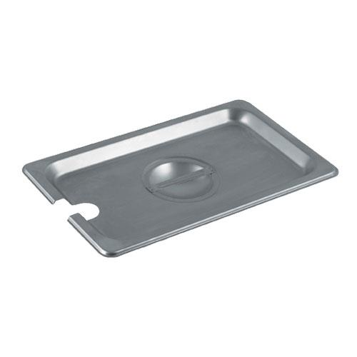 Winco - SPCQ - Fourth Size Notched Pan Cover