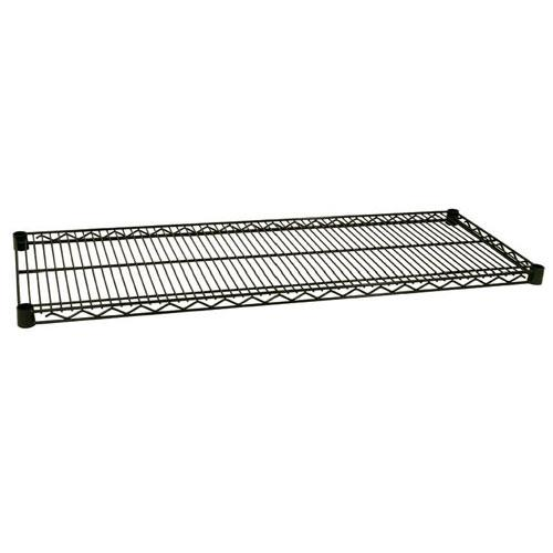 Focus Foodservice - FF1430G - 14 in x 30 in Green Epoxy Coated Wire Shelf