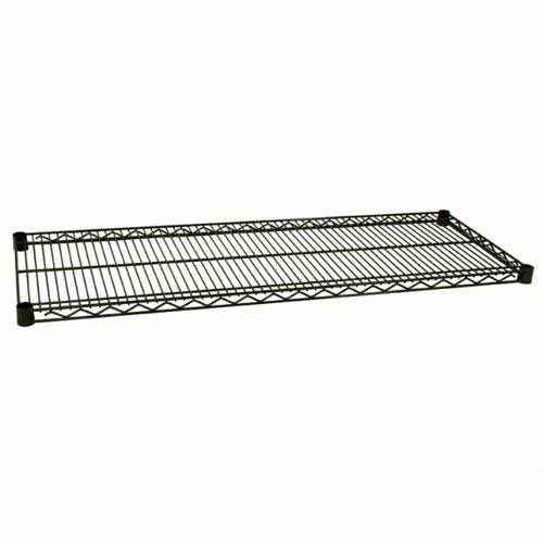Focus Foodservice - FF1854G - 18 in x 54 in Green Epoxy Coated Wire Shelf