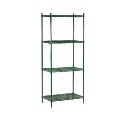 Commercial - 24 in x 48 in (4) Shelf Epoxy Coated Shelving Unit