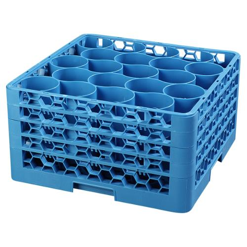 Carlisle - RW20-314 - 20 Compartment OptiClean™ NeWave™ Glass Rack with Extender