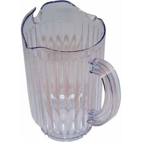 Winco WPCT-60C 60 Oz Clear 3-Spout Water Pitcher for Restaurant Chef