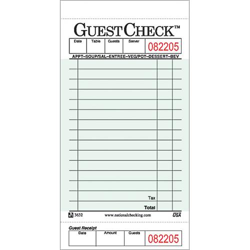 DayMark - IT112797 - 1 Part - 15 Line Guest Check
