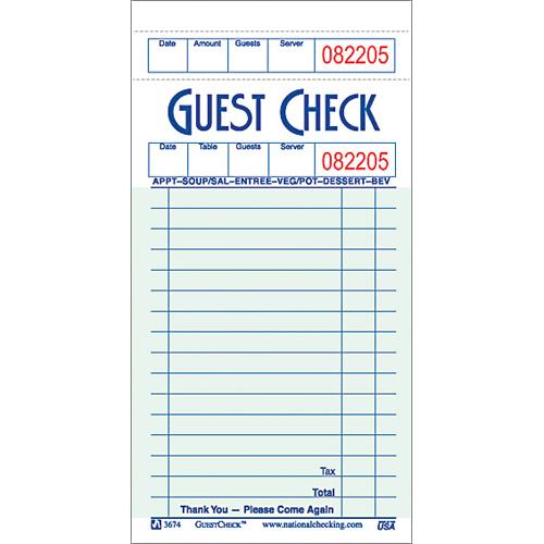 DayMark - IT112927 - 1 Part - 16 Line Guest Check
