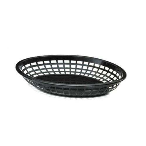 Tablecraft - 1084BK - Oval Black Plastic Baskets